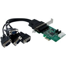 StarTech 4 Port Native PCI Express RS232 Serial Adapter Card