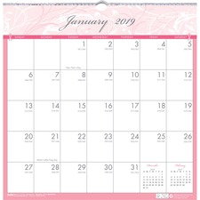 HOD 3671 Doolittle BCA Wirebound Monthly Wall Calendar HOD3671