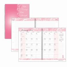HOD 5226 Doolittle BCA Pink Cover Mthly Wirebound Journal HOD5226