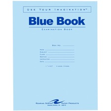 ROA 77515 Roaring Spring 8-sheet Blue Examination Book ROA77515