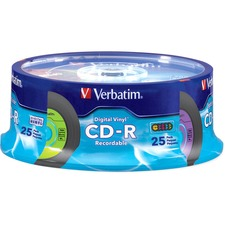 Verbatim CD-R 80min 52X with Digital Vinyl Surface - 25pk Spindle