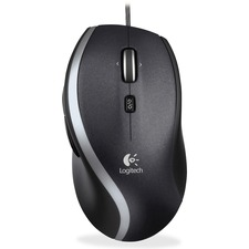 Logitech Corded Mouse M500 - Laser - Cable - Black, Gray - Retail - USB - 1000 dpi - Computer - Scroll Wheel - 7 Button