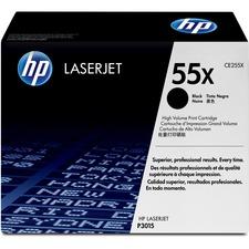 HP 55X (CE255X) Original Toner Cartridge - Single Pack - Laser - 12500 Pages - Black - 1 Each