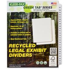 KLF83101 - Kleer-Fax Letter-size Printed Index Dividers