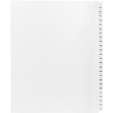 KLF91907 - Kleer-Fax Legal Exhibit Index Dividers