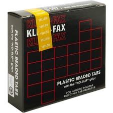 KLF KLE01422 Kleer-Fax 1/5 Cut Hanging Folder Tabs KLFKLE01422