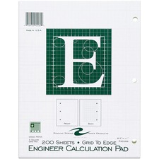 ROA 95589 Roaring Spring Engineer Calculation Pads ROA95589