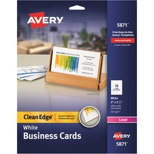AVE 5871 Avery Laser Print 2-Sided Business Cards AVE5871