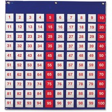 LRN LER2208 Learning Res. Hundred Pocket Chart LRNLER2208
