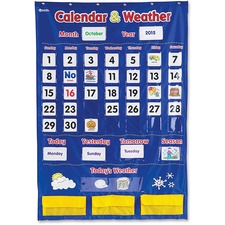 LRN LER2418 Learning Res. Calendar/Weather Pocket Chart LRNLER2418