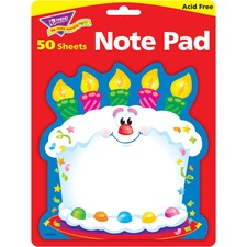 TEP T72071 Trend Bright Birthday Shaped Note Pad TEPT72071