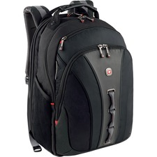 Swissgear Legacy Backpack. Fits up to 15.6in Laptop, Black, Checkpoint Friendly
