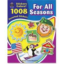 TCR 4224 Teacher Created Res. Seasons Stickers Galore Book TCR4224