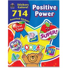 TCR 4225 Teacher Created Res. Positive Stickers Galore Book TCR4225