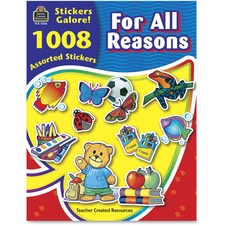TCR 4226 Teacher Created Res. Reasons Stickers Galore Book TCR4226