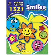 TCR 4223 Teacher Created Res. Smiles Stickers Galore Book TCR4223
