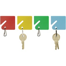 MMF 2013004W47 MMF Industries Snap Hook Slotted Rack Key Tags MMF2013004W47