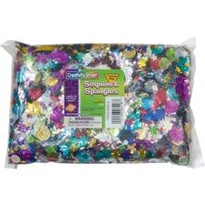 CKC 6118 Chenille Kraft 1 lb Bag Sequins/Spangles CKC6118