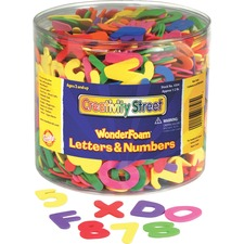 CKC 4304 Chenille Kraft Wonderfoam Tub of Letters/Numbers CKC4304