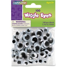 CKC 344602 Chenille Kraft 100-pc Assorted Size Wiggle Eyes  CKC344602