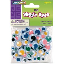 CKC 344601 Chenille Kraft 100-pc Wiggle Eyes Assortment CKC344601