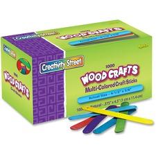 CKC 377502 Chenille Kraft Bright Hues Wood Craft Sticks CKC377502