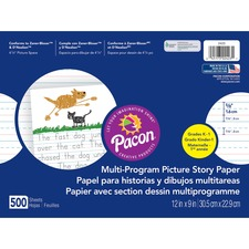 PAC 2423 Pacon Multi-program Ruled Picture Story Paper PAC2423