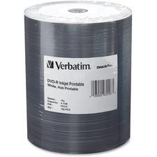 VER 97016 Verbatim 16X DataLifePlus Inkjt Hub Prntble DVD-Rs VER97016
