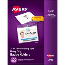 AVE2923 - Avery&reg Clip Style Badge Holders