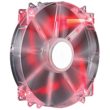 Cooler Master MegaFlow 200 - Sleeve Bearing 200mm Red LED Silent Fan for Computer Cases