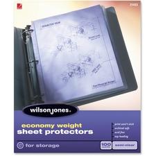 WLJ 21423 Acco/Wilson Jones Economy Semi-clr Sht Protectors WLJ21423