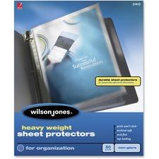 Wilson Jones® Heavy Weight Top-Loading Sheet Protectors, Non-Glare, 50/Box