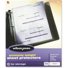 WLJ 21420 Acco/Wilson Jones Econ Wt. Top-load Sht Protectors WLJ21420