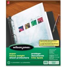 WLJ 21401 Acco/Wilson Jones Super Hvywt Sheet Protectors WLJ21401