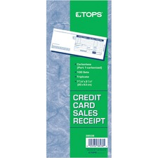 TOP 38538 Tops Credit Card Sales Slip Forms TOP38538
