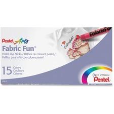 PEN PTS15 Pentel Arts Fabric Fun Pastel Dye Sticks PENPTS15