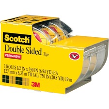 MMM 3136 3M Scotch Double-Sided Tape w/Dispensers MMM3136