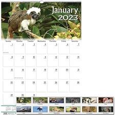 HOD 3732 Doolittle Wildlife Mid-size Wall Calendar HOD3732