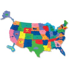 CKC 4377 Chenille Kraft WonderFoam Giant USA Puzzle Map CKC4377