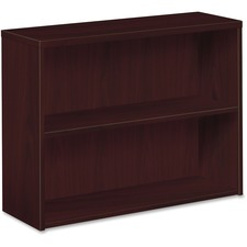 HON 105532NN HON 10500 Mahogany Laminate Fixed Shelf Bookcase HON105532NN