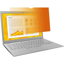 """3M GPF10.1W Gold Privacy Filter for Widescreen Laptop 10.1"""" Gold"""