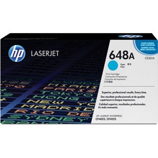 HP 648A (CE261A) Original Toner Cartridge - Single Pack - Laser - Standard Yield - 11000 Pages - Cyan - 1 Each