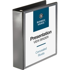 BSN09984 - Business Source Round Ring Standard View Binders