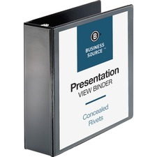 BSN09986 - Business Source Round Ring Standard View Binders