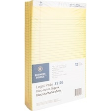 BSN 63106 Bus. Source Micro-Perforated Legal Ruled Pads BSN63106
