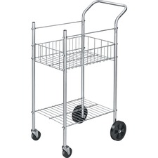 FEL 4092001 Fellowes Double-basket Wire Mail Cart FEL4092001