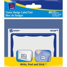 AVE45144 - Avery&reg Name Badge Label Pads