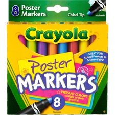 CYO 588173 Crayola Washable Chisel Tip Poster Markers CYO588173