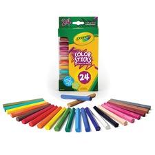CYO 682324 Crayola 24 Color Sticks Woodless Colored Pencils CYO682324