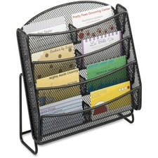 SAF 5642BL Safco Steel Mesh 8-Compartment Bus. Card Holder SAF5642BL